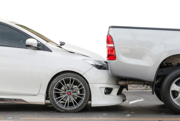 two vehicles colliding