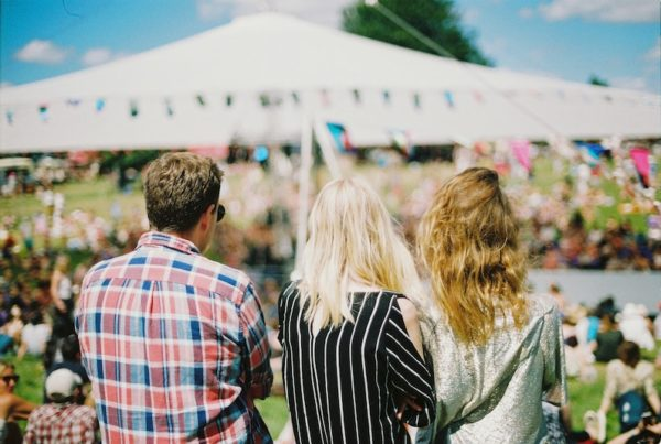 people at a festival outside