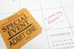 a special event in diary coming soon
